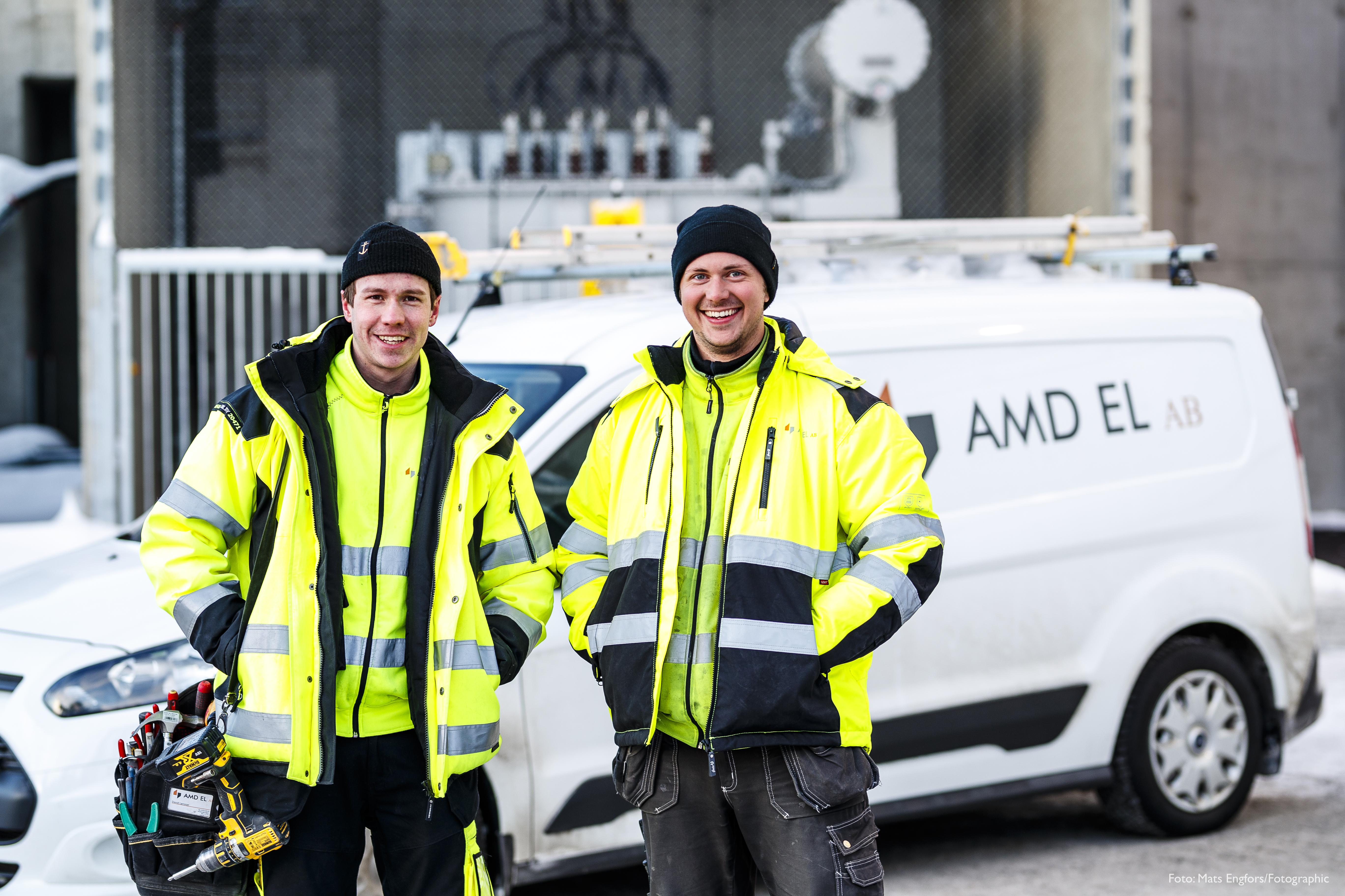 Andreas, Mikael och David, AMD El